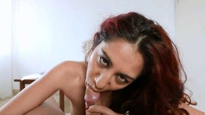 Blowjob with cumshot on the tongue