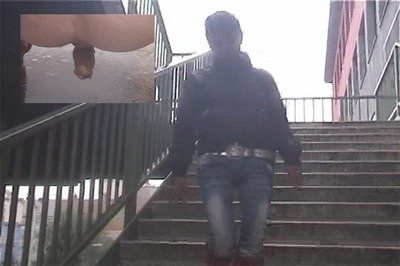 Public stairs shitting..