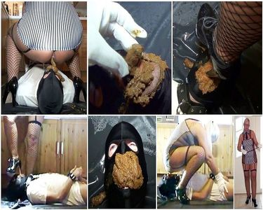 Very Hard Scat Female Domination! Brought new shit eater to its limits!