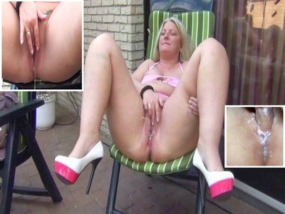 Cunt been filled by 3 guys and squirtet the sperm out!