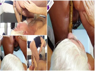Fat shit sausage shitting in the Senior Slave mouth! Part 1, Full HD