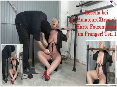 Rosella to visit at AmateureXtreme: Hard pussies tortur, in the pillory! Part 1