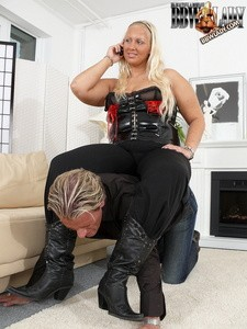 Lady Cathy's human furniture training